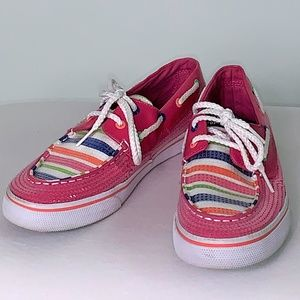 Sperry Shoes - Sperry top-sider Pink Sequin Boat Shoe Kid